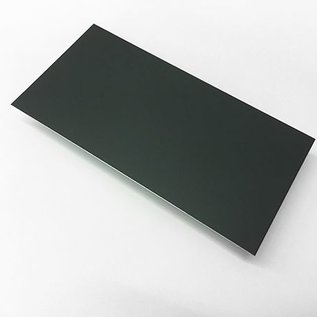 Set [2 stuks] plaatstalen spaties aluminium 1,5 mm antraciet (RAL 7016) gecoat, breedte 468 mm lengte 720 mm - Copy