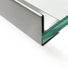 Versandmetall Gouttière de toit vitré, pour verre de 10,76mm, acier inoxydable 1.4301, surface brossé  en grain320