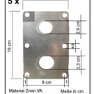 -Set {5 I 10 I 25 pcs} Carte laser, ébauches de tôles d'acier K240 à une face, épaisseur de matériau 2,0 mm, 100 x 160 mm (10 x 16 cm)