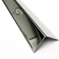 Versandmetall Hoekbeschermer, hoekprofiel, 3x gezet ongelijkzijdig, lengte 2000 mm, oppervlakke geschuurd(grid320),