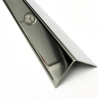 Versandmetall Corniéres de protection inox, pas  isocèle, á 3 plis, longueur 1.500mm, surface brossé  en grain 320