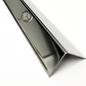 Versandmetall Corniéres de protection inox, pas isocèle, pliée 3 fois, longueur 1.000mm, surafce brossé  en grain 320