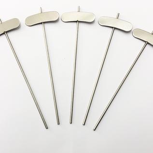 Versandmetall Stabiele planttekens Plantenstop gemaakt van hoogwaardig roestvrij staal 7,4x2,3cm staaflengte 25cm
