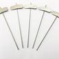 Versandmetall Plante stable en acier inoxydable de haute qualité, longueur de tige de 7,4x2,3cm, longueur 25cm