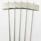 Versandmetall Stabiele planttekens Plantplug gemaakt van hoogwaardig roestvrij staal 7,0x4,3cm