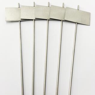 Versandmetall Signalisation de plantes stable Fiche de plante en acier inoxydable de haute qualité, longueur de tige 7,0x4,3cm, 25cm