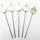 Versandmetall Signalisation de plante stable Fiche de plante en tôle d'acier inoxydable de haute qualité d'environ 5 cm de long