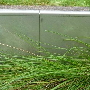 Versandmetall -Stel [30 St, 75 m] Stevige gazonranden Grindlijst van 1,0 mm dik roestvrij staal (1.4301). h = 200 mm 30x L = 2500 mm 25 connectoren 6 hoekconnectoren (variabel buigbaar)