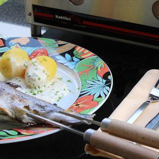 Kohlibri SteinTischGrill Einlegestab-Grillrost für den Kohlibri SteinTischGrill