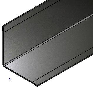 Versandmetall - Set [ 10 St ]  Inneneckwinkel  90°  - 3-fach gekantet 1,5mm aussen K320  axbxL 80x40x2000 mm