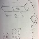 Versandmetall U-Profil gleichschschenkelig t=1,5mm Maße Innen a=90mm c=90mm b=90mm Länge 1000mm  1x Loch d40mm 1 Deckel lose Oberfläche außen Schliff Korn 320