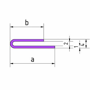 Versandmetall Jeu [30St = 60mtr] Espace entre profilés de serrage 2mm en acier inoxydable a / b 10 / 25mm t = 1,0mm longueur 2000mm, sol extérieur K320