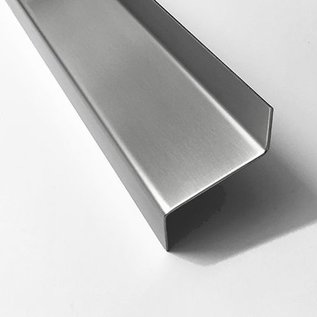 Versandmetall Z-Profil  Traufblech 100° aus Edelstahl  2-fach gekantet Materialdicke 1,5 mm axcb 25 x 30 x 25mm  Länge 2000 mm Aussen Schliff K320