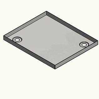 Versandmetall Edelstahl Duschwanne, Duschtasse { R1A } 1,5mm, INNEN  Schliff K320, Tiefe  500 mm, Breite 800 mm, 1 oder 2 Ablaufbohrungen,  Höhe 40mm