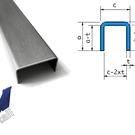Versandmetall Set (4 stuks) U-profiel gemaakt van 2,0 mm roestvrij staal, oppervlakteafwerking K320 buitenafmetingen 2 stuks axcxb 60x130x30mm, 1600 mm (160cm) lang, 1pc axcxb 25x30x25mm, 945mm lang, 1pc axcxb 25x30x25mm, 2500mm lang
