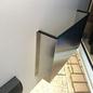 Versandmetall Deurvak, deurrek groot, gemaakt van 1,5 mm aluminium blank 90 ° BxHxD 400x220x85mm (40x22x8, 5cm)