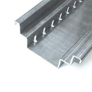 Versandmetall Canal de drainage forme B2 en aluminium largeur d'entrée 150 mm, hauteur 70 mm, quantité d'ordre 10m, 20m, 30m, 40m, 50m