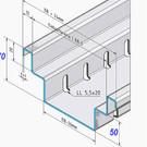 Versandmetall Sparsets Sonder Drainagerinnen Form B2 Al99,5 Einlauf 150mm, Bauhöhe 70 mm