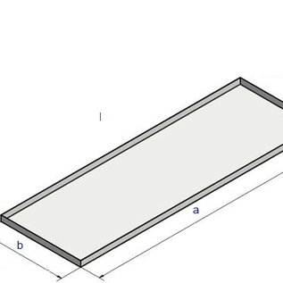 Versandmetall Baignoire spéciale en acier inoxydable rangée 1 coins soudés 1,5 mm h = 20 mm axb 500x300 mm unilatéral - coupe EXTÉRIEUR K320