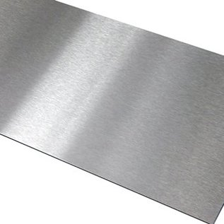 -Set [3 stuks] speciaal gesneden 2 stuks 2,0 mm roestvrij staal, geborsteld graan 320, 1 stuk aluminium helder 1,0 mm, gemaakt volgens schets