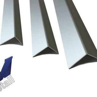 Versandmetall Set [ 30 St ]  Alu-L-Profil 1,5mm 90° 10St axb 241,5x61,5mm  18St 166,5x61,5mm    2St 266,5x61,5mm Länge 300mm, Al99,5 eloxiert E6/EV1, einseitig mit Schutzfolie