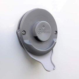 Kondenswasserablauf Kaminschild Ablauf für Deckel Kamindeckel (Typ Truma, Farbe Grau)