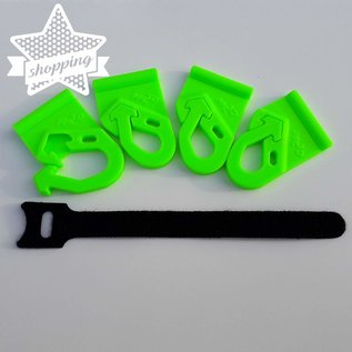 Manufaktur 3D Set van 4 hakenoogje voor luifels, afsluitbaar voor 7 mm weltrail