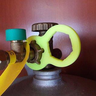 Manufaktur 3D Set van 2 gassleutels voor terrasverwarmers, gasverwarmers, gaskanonnen, stralingsverwarmers, gasgrills, gasfornuizen, stacaravans, caravans, campers, drukregelaars, drukregelaars