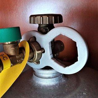 Manufaktur 3D 2er Set Gasschlüssel grau für Terrassenheizer, Gasheizer, Gaskanone, Heizstrahler, Gasgrill, Gaskocher, Wohnmobil, Caravan, Camping, Druckminderer, Druckregler