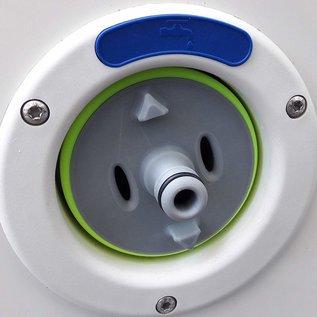 Manufaktur 3D Watertankdop met aansluiting voor Gardena-systeem, geschikt voor tankdop 3-pins D: 78 mm