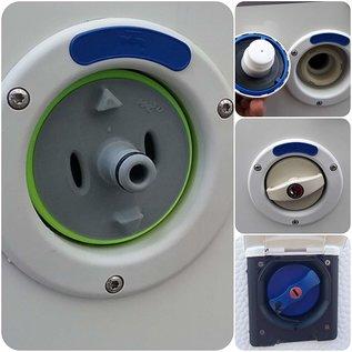 Manufaktur 3D Bouchon de réservoir d'eau avec connexion pour système Gardena, adapté pour bouchon de réservoir 3 broches D: 78mm