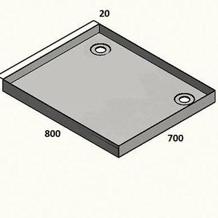 Versandmetall Receveur de douche en acier inoxydable, receveur de douche {R1A} 1,5mm, rectification intérieure K320, profondeur 700 mm, largeur 910 mm, 1 ou 2 trous de drainage, hauteur 50mm - Copy