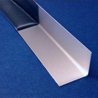 Versandmetall - Roestvrij staal hoek ongelijke poot 90 ° 20x55x2.0mm lengte 745 mm buitenkant met korrel 320