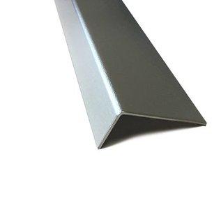 Versandmetall Sonder  Winkel aus Aluminium Al 99,5 ungleichschenkelig 90° einfach gekantet,  Materialstärke 1,0 mm,  2 Stück Schenkelbreite innen axb 44x 7 mm , Profillänge 240mm 2 Stück innen 27x 7 mm Länge 840mm , Oberfläche blank, foliert