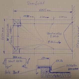 Versandmetall Set (ca 18,4mtr) Mauerabdeckung aus 1,0mm Alu anthrazit ( RAL 7016) Breite320mm b =90mm c =60mm 4x L=2500mm, 2xL1925mm, 2xL1775mm, 9xVerbinder; 2x 90°Eckverbinder; 2x Wandanschluss