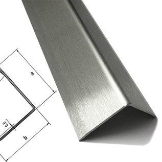 Versandmetall Kit économique - 62 pièces d'angle de protection des bords à triple tranchant, épaisseur du matériau 1,5 mm, axb 100 x 100 mm, longueur 1800 mm, meulage extérieur K320, 8 trous de 4 mm de diamètre, y compris les fraises comme indiqué sur le croquis