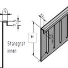 Versandmetall Bovendeel voor aluminium grindstopbar, in hoogte verstelbaar H = 80 mm L = 2000 mm - 90 ° afgekant