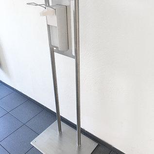 Versandmetall Mobiele desinfectiekolom van hoogwaardig roestvrij staal. (zonder dispenser) Kleine voetafdruk, gemakkelijk te vervoeren. wandmontage is niet nodig.