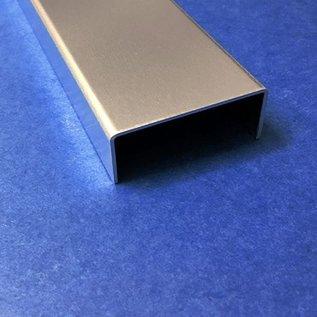 Versandmetall Set [30 stuks] aluminium U-profiel 2.0mm 90 ° BINNEN afmetingen axcxb 40x40x40mm lengte 2000mm, Al99.5 blank, een zijde met beschermfolie