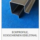 Versandmetall -Jeu (2 pièces) profilé d'angle spécial en acier inoxydable V4A (316L) de 2 mm à coupe simple K320, DIMENSIONS EXTÉRIEURES et longueurs: 10/25/50/50/25/10 longueur 2500 mm