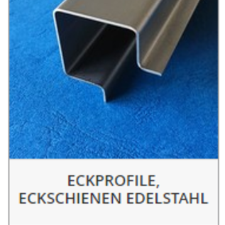 Versandmetall -Set (2 stuks) speciaal hoekprofiel gemaakt van 2mm V4A (316L) roestvast staal single cut K320, BUITENAFMETINGEN en lengtes: 10/25/50/50/25/10 lengte 2500mm