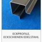 Versandmetall -Set ( 2 Stck ) Sonder Eck-Profil aus 2mm V4A (316L) Edelstahl eins Schliff K320, AUSSENMAßE und Längen: 10/25/50/50/25/10 Länge 2500mm