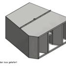 1 luchtverdeelkast vervaardigd volgens tekening 160411_000A0101, 1,25 mm dik DX51 (fijngetand) Kom: Schreier