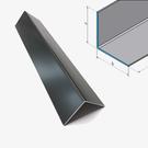 Versandmetall [9B] Aluminium hoek antraciet gelijkbenig 90 ° gekanteld as 20x20 mm Materiaaldikte: 1,5 mm lengte 2500 mm buitengrond K320