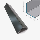 Versandmetall [9B] Cornière aluminium anthracite isocèle 90 ° arête axb 20x20 mm Epaisseur du matériau: 1,5 mm longueur 2500 mm hors sol K320