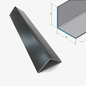 Versandmetall [14B] Aluminium hoek antraciet gelijkbenig 90 ° gekanteld as 20x20 mm Materiaaldikte: 1,5 mm lengte 2500 mm buitengrond K320