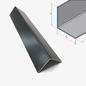 Versandmetall [14B]Aluminiumwinkel anthrazit gleichschenkelig 90° gekantet   20x20 mm Materialstärke:1,5 mm Länge 2500 mm Aussen Schliff