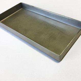 Versandmetall -Tuyau spécial en acier inoxydable R1 soudé à l'extérieur 2,0 mm h = 170 mm axb 800x800 mm coupe latérale K320 - Copy