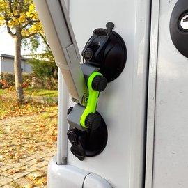 Manufaktur 3D Paire de supports muraux Supports muraux Support de support de fixation Ventouse Support de pied de support pour auvent Support de pied Support d'auvent pour camping-car caravane (kit pour pied de support Dometic)