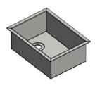 Versandmetall RVS wastafel, camperverlenging {R3B} 1,5 mm omlopende rand 20 mm, BINNENKANT K320, breedte 250 mm, incl. Rand 287 mm, lengte 350 mm, incl. Rand 387 mm, diepte 145 mm